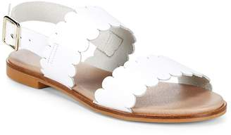 Saks Fifth Avenue Women's Scalloped Leather Sandals