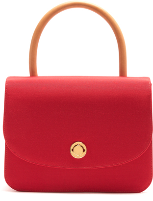 Metropolitan top-handle grosgrain bag