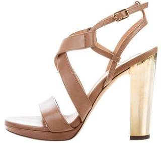 Salvatore Ferragamo Leather Ankle Strap Sandals