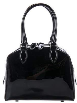 Alaà ̄a Patent Leather Satchel Black Alaà ̄a Patent Leather Satchel