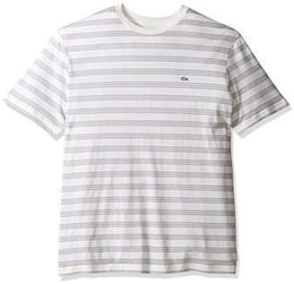 Lacoste Men's Father's Day Cotton/Linen Stripe Jersey T-Shirt