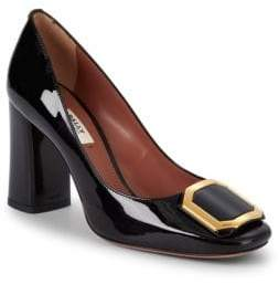 Bally Patent Leather Block Heel Pumps/3""