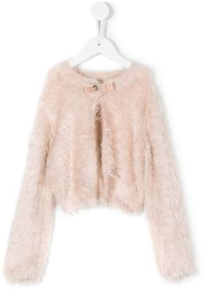 Twin-Set Kids fluffy bow top