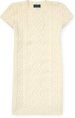Ralph Lauren Aran Cashmere Sweater Dress