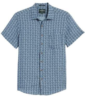 RODD AND GUNN Saddle Hill Pineapple Print Linen Slim Fit Shirt