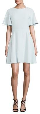 Shoshanna Solid Fit & Flare Crepe Dress $385 thestylecure.com