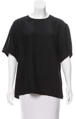 Public School Silk Short Sleeve Top