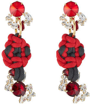 Marni Embellished Earrings with Rope