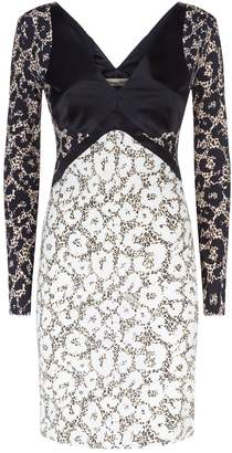 Roberto Cavalli Leopard Print Panelled Dress