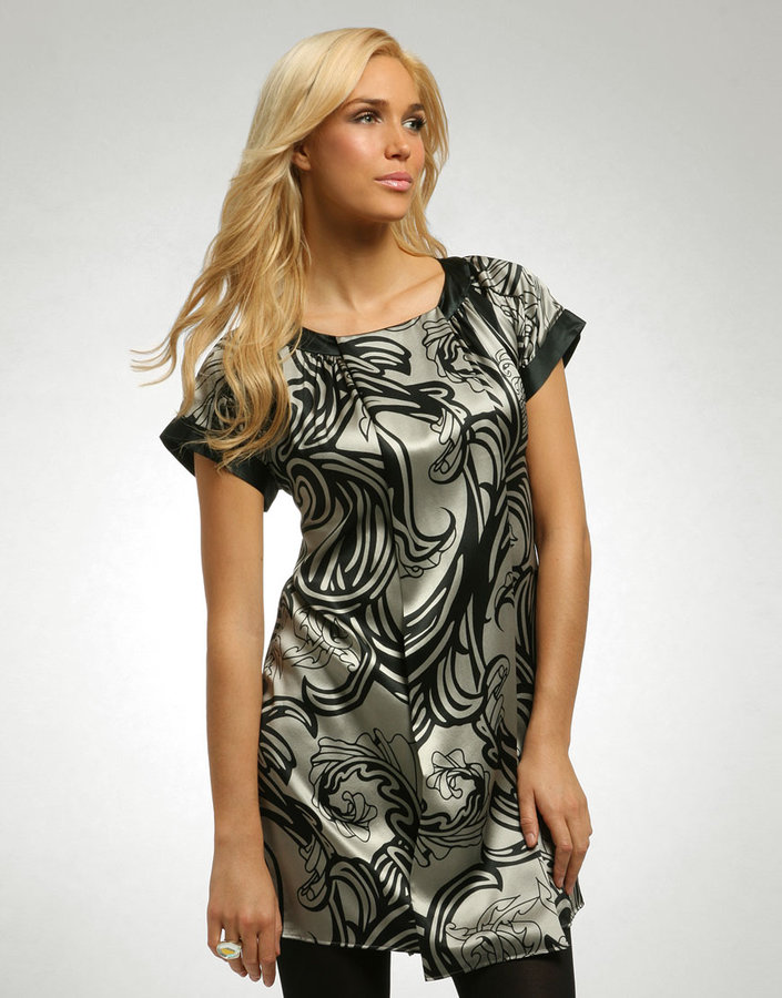 Ted Baker Nouveau Silk Print Pleat Tunic