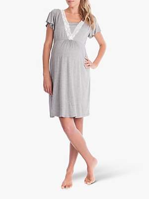 db6a12ffd8a3d Seraphine Maternity Meadow Nightdress, Grey