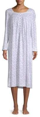 Eileen West Long Sleeve Floral Night Gown