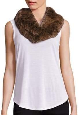 Surell Sheared Rabbit Fur Infinity Scarf