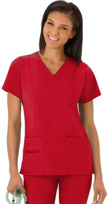 Jockey Plus Size Scrubs Modern Fit V-Neck Top