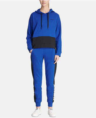 DKNY Colorblocked Logo Pullover Hoodie