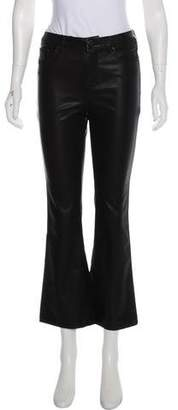 Blank NYC Faux-Leather Mid-Rise Pants