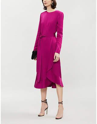 Givenchy Ruffled-hem crepe midi dress