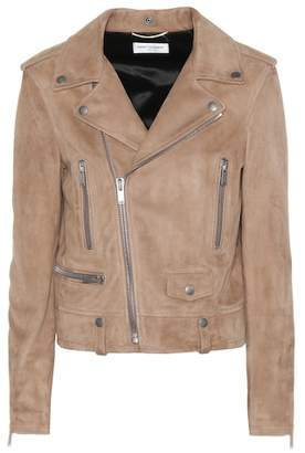 Saint Laurent Suede moto jacket