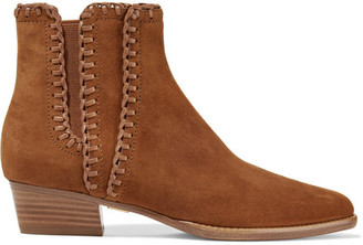 Michael Kors Collection - Presley Suede Ankle Boots - Light brown $550 thestylecure.com