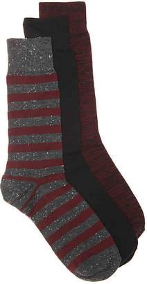 Aston Grey Marled Stripe Dress Socks - 3 Pack - Men's