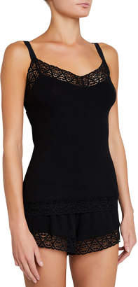 Eberjey Kaia Lace-Trim Lounge Camisole Top