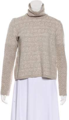 Amina Rubinacci Patterned Turtleneck Sweater
