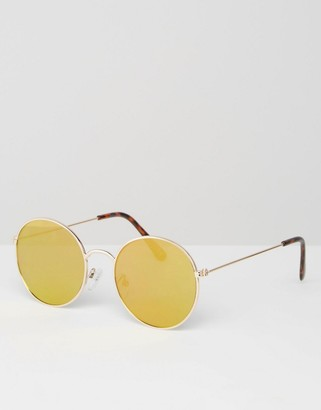 ASOS 70s Metal Round With Flash Flat Lens $19.50 thestylecure.com