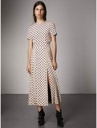 Burberry Polka-dot Silk Dress