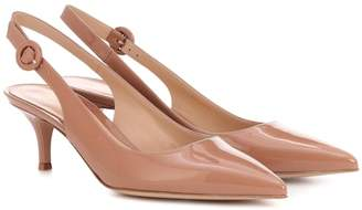 ad8fbd6c4d3 Gianvito Rossi Exclusive to Mytheresa – Anna patent leather slingback pumps