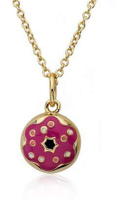 "Michael Kors Little Miss Twin Stars ""Candyland"" 14k Gold-Plated Enamel Donut Frosted with Sprinkles Pendant Necklace"