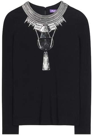 Ralph Lauren Janine embellished crêpe blouse
