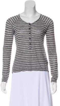 Frame Striped Long Sleeve Top