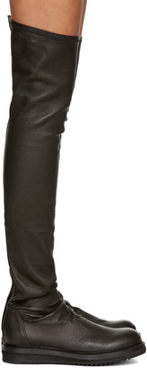 Rick Owens Black Creeper Over-the-Knee Boots $1,840 thestylecure.com