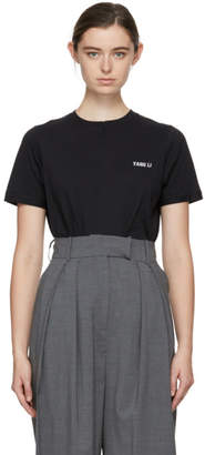 Yang Li SSENSE Exclusive Black Overlock T-Shirt