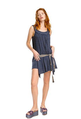 Max Studio striped linen jersey dress