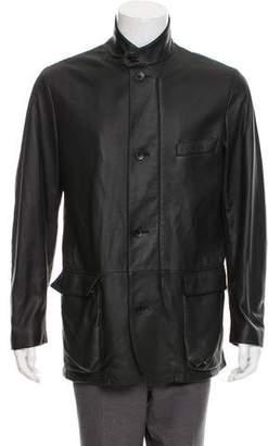 Loro Piana Roadster Leather Jacket w/ Tags