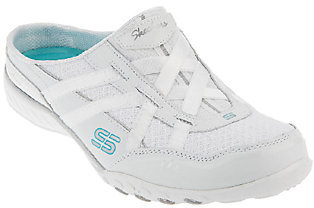 """As Is"" Skechers Breathe Easy Sneaker Mules $31.50 thestylecure.com"