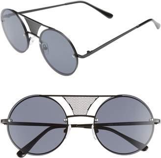BP 52mm Mesh Browbar Round Aviator Sunglasses