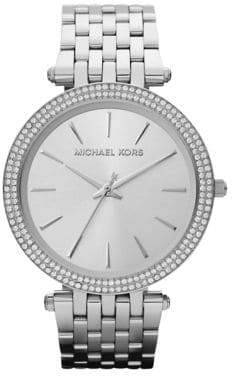 Michael Kors Darci Pave Stainless Steel Bracelet Watch