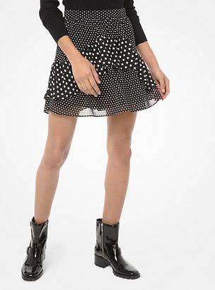 MICHAEL Michael Kors Mixed Dot Ruffle Skirt