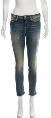 IRO Mid-Rise Distressed Jeans w/ Tags
