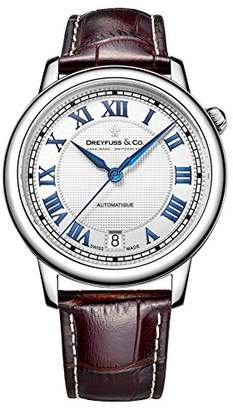 Dreyfuss & Co Dreyfuss Mens Analogue Classic Automatic Watch with Leather Strap DGS00148/01