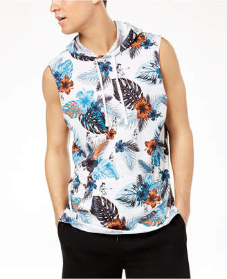 American Rag Men's Floral Sleeveless Hoodie, Created for Macy's