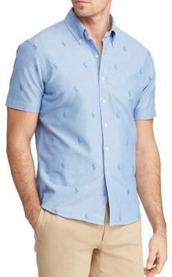 Polo Ralph Lauren Classic-Fit Short-Sleeve Pony Oxford Shirt