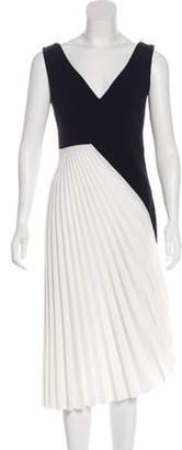 Roland Mouret Pleated Midi Dress Black Pleated Midi Dress