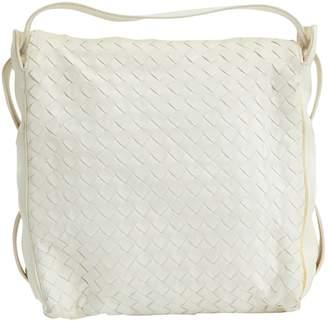 Bottega Veneta Ecru Leather Clutch Bag