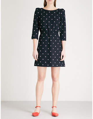 Claudie Pierlot Ricin embroidered crepe mini dress