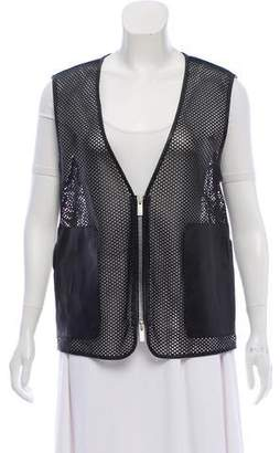 Fendi Perforated Zip-Up Vest
