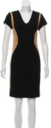 Diane von Furstenberg Dayton Leather-Paneled Dress
