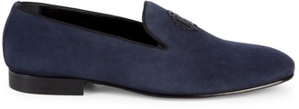Roberto Cavalli Firenze Suede Smoking Slippers